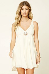 Forever 21 Strappy Crochet Lace Cami