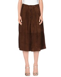 Gold Case Skirts 3 4 Length Skirts Women Cocoa