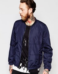 Only And Sons Bomber Jacket Navy Blue