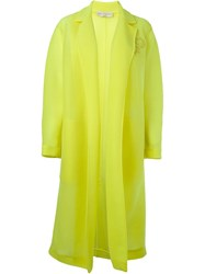 Emilio Pucci Embroidered Logo Coat Yellow And Orange