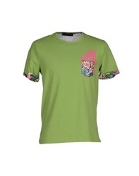 Cesare Paciotti 4Us Topwear T Shirts Men Acid Green
