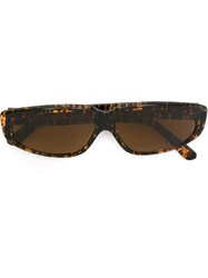 Moschino Vintage Square Frame Sunglasses Brown