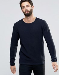 Only And Sons Textured Knitted Jumper Navy