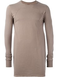 Rick Owens Drkshdw Long Length T Shirt Brown