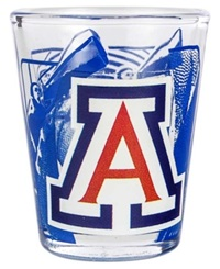 Hunter Manufacturing Arizona Wildcats 3D Collector Glass Team Color