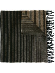 Paul Smith Striped Scarf Brown