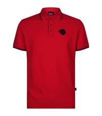 Just Cavalli Logo Polo Shirt Male Red