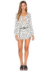 Lucca Couture Front Tie Romper White
