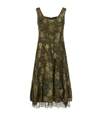 Etro Layered Paisley Dress Female Green