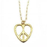 Zt Peace And Love Pearl Chain Pendant