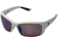 Zeal Optics Tracker White River W Polarized Blue Lens Sport Sunglasses Gray