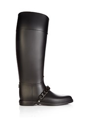 Givenchy Chain Rubber Rain Boots Black