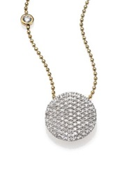 Phillips House Affair Diamond And 14K Yellow Gold Infinity Bezel Accent Necklace