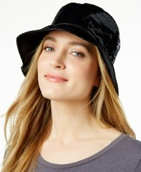 Nine West Reversible Rain Bucket Hat Black