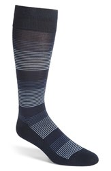 Calibrate Men's Gradient Stripe Socks Navy