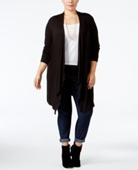 Inc International Concepts Plus Size Duster Cardigan Only At Macy's Deep Black