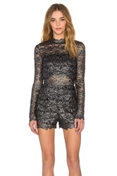 Nightcap Metallic Dixie Lace Romper Charcoal