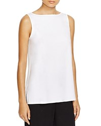 Eileen Fisher Boat Neck Tank White