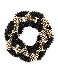 Meredith Frederick Elsa 14K Gold And Onyx Link Bracelet Black
