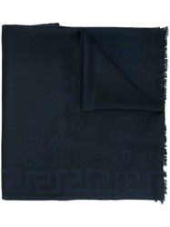 Versace Two Tone Medusa Scarf Black