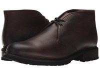 Frye James Lug Chukka Dark Brown Wp Soft Pebbled Full Grain Men's Lace Up Boots