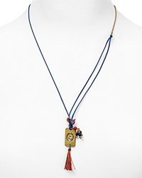 Tory Burch Evil Eye Charm Necklace 22 Multi Gold