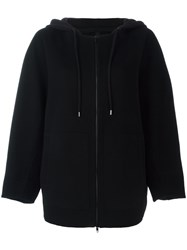 Ahirain Zip Up Hooded Cardigan Black