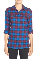 Women's Patagonia 'Fjord' Flannel Shirt Potter Oxblood Red