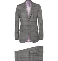Gucci Grey Slim Fit Prince Of Wales Checked Wool Suit Gray