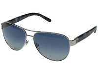 Tory Burch 0Ty6051 Silver Pearl Navy Tortoise Blue Grey Gradient Fashion Sunglasses