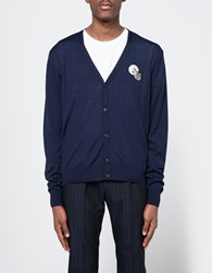 Ami Alexandre Mattiussi Cardigan With Patch Navy