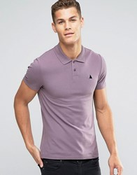Asos Muscle Pique Polo Shirt With Embroidery In Purple Dusty Lilac