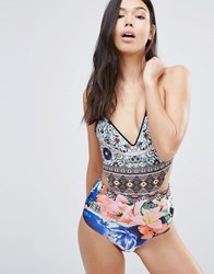 Clover Canyon Printed Swimsuit Multi