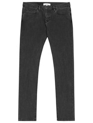 Reiss 1971 Paige Slim Washed Jeans Off Black