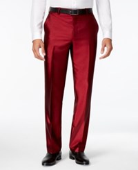 Inc International Concepts Men's Shiny Pants Only At Macy's Burgundy
