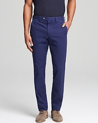 Hardy Amies Solid Trousers Slim Fit Bloomingdale's Exclusive Navy