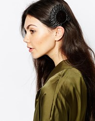Monki Beaded Hair Comb Darksilver