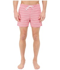 Lacoste Logo Swim Short Sandalwood White Men's Swimwear Pink