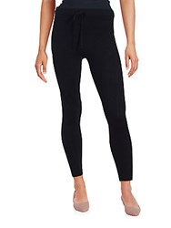 Cashmere Saks Fifth Avenue Ankle Leggings Black