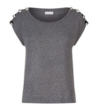 Claudie Pierlot Tram Ladder Top Female Grey