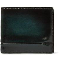 Berluti Makore Polished Leather Billfold Wallet Green
