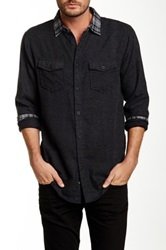 Burnside Contrast Plaid Long Sleeve Shirt Black