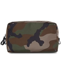 Valentino Jacquard Camo Large Wash Bag Green