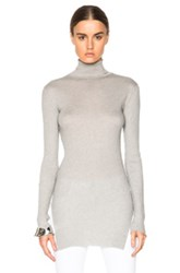 Helmut Lang Fitted Turtleneck Sweater In Gray