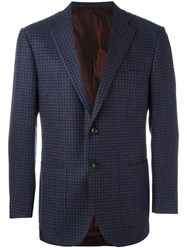 Kiton 'Classic Fit Drop 7' Blazer Blue