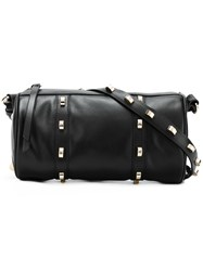 Borbonese Studded Barrel Shoulder Bag Black