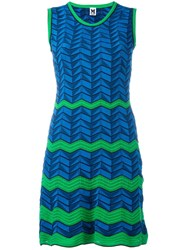 M Missoni Zig Zag Pattern Dress Blue