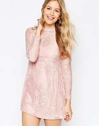 Asos Lace Babydoll Dress Blush Pink