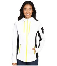 Spyder Ardent Full Zip Hoodie Mid Weight Core Sweater White Black Acid Women's Sweatshirt
