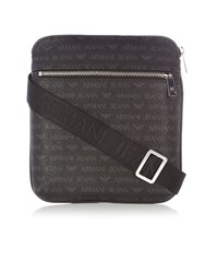 Armani Jeans Small All Over Print Cross Body Bag Black